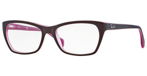 Ray-Ban RX5298 5386 TOP MATTE BROWN ON OPAL PINK