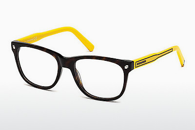 Gafas de diseño Dsquared DQ5202 048 - Marrones, Dark, Shiny