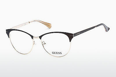 Gafas de diseño Guess GU2551 049 - Marrones, Dark, Matt