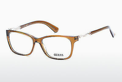 Gafas de diseño Guess GU2561 045 - Marrones, Bright, Shiny