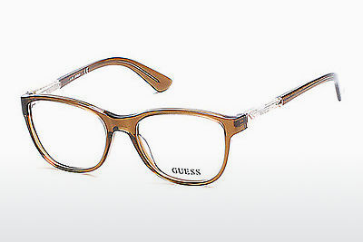 Gafas de diseño Guess GU2562 045 - Marrones, Bright, Shiny