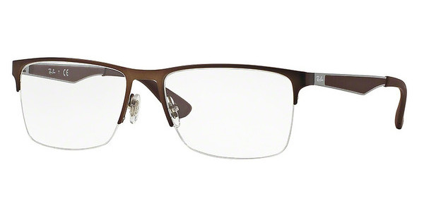 Ray-Ban RX6335 2758 DARK MATTE BROWN