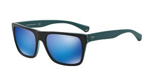 Emporio Armani EA4048 539355 GREEN MIRROR LIGHT BLUETOP BLACK/MATTE TURQUOISE