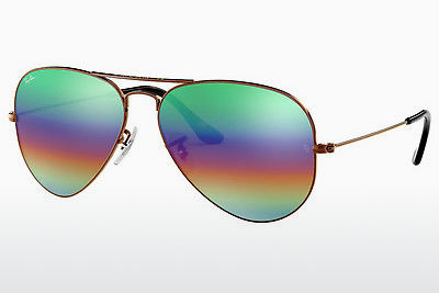 Gafas de visión Ray-Ban AVIATOR LARGE METAL (RB3025 9018C3) - Marrones