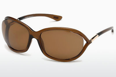 Gafas de visión Tom Ford Jennifer (FT0008 48H) - Marrones, Dark, Shiny
