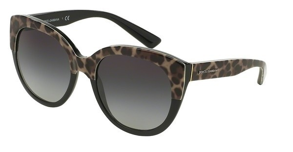 Dolce & Gabbana DG4259 19958G GREY GRADIENTTOP LEO ON BLACK