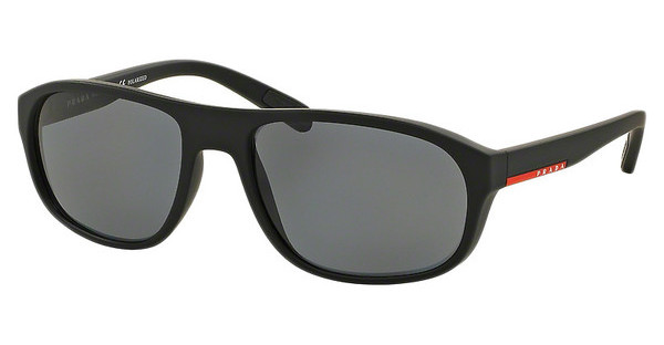 Prada Sport PS 01RS DG05Z1 POLAR GREYBLACK RUBBER