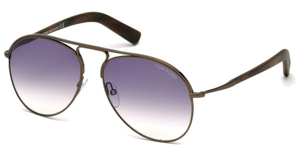 Tom Ford FT0448 48Z verspiegeltbraun dunkel glanz